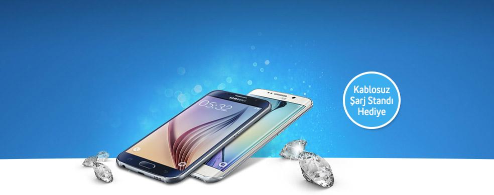 Samsung Galaxy S6 ve Galaxy S6 edge Platinum ayrıcalıklarıyla ön satışa özel kablosuz şarj standı hediye!