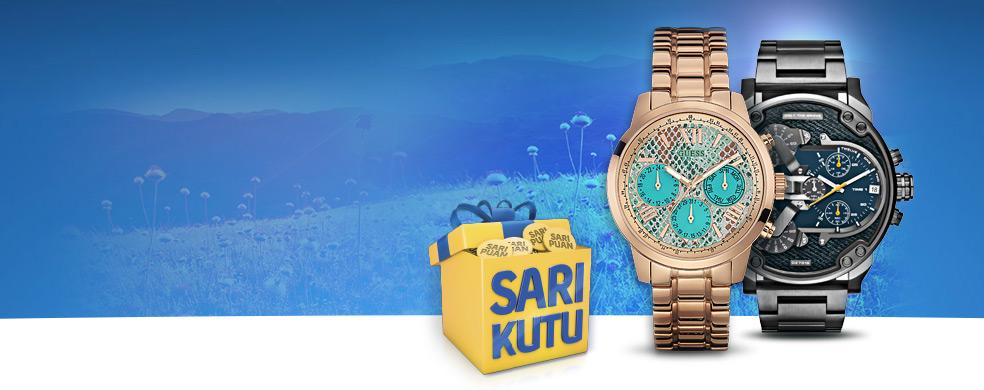 Sarı Kutu'dan Bahar Fırsatı Saat&Saat mağazalarında yapacağınız saat alışverişlerinde anında %25 indirim sizi bekliyor