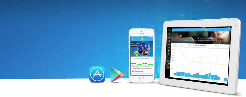 Yatirimci İliskileri Uygulamasi.iOS ve Android cihazlarda ayni anda Turkcellde.