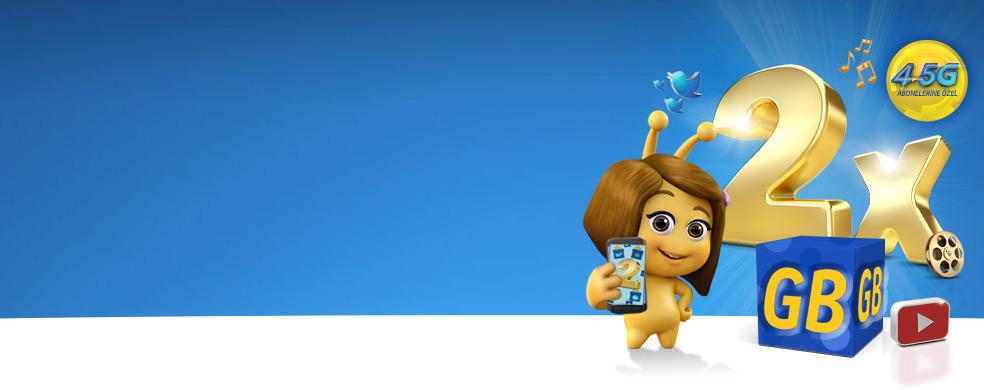 4.5G Salla Kazan ve Katlanan İnternet - Telefonunu salla, internetini ikiye katla! Sürpriz hediyeler her hafta!