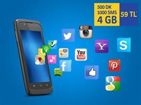 İnterneti Bol 500dk 4GB 1000SMS Kampanyası