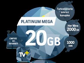 5'i 1 Yerde Platinum Mega 20 GB Kampanyası
