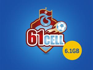 61cell Ön Ödemeli Yeni Tesis 6.1 GB İnternet