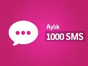 Aylık 1000 SMS Paketi