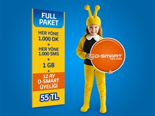 D-Smart SD Giriş Paket Hediye Kampanyası