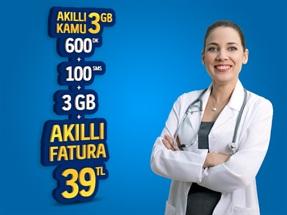 Akıllı Kamu 3 GB Yıllık Abonelik Kampanyası