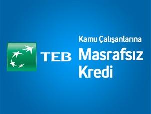 Turkcell'li kamu çalışanlarına, TEB'den, avantajlı ihtiyaç kredisi!
