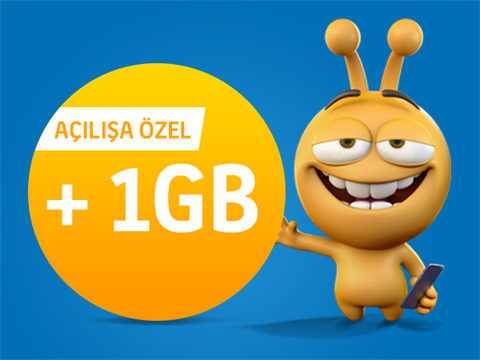 Açılışa Özel 1 GB Paketi