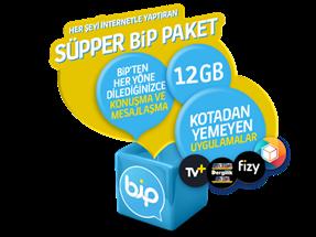 Süpper Bip 12GB Yıllık Abonelik Kampanyası