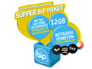 Süpper BiP 12 GB Yıllık Abonelik Kampanyası