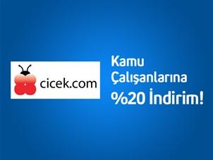 Turkcell'li Kamu Çalışanlarına cicek.com'da %20 İndirim!