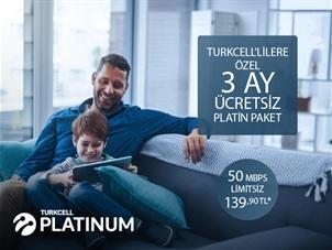 Turkcell'lilere Özel 3 Ay Ücretsiz Platin Paket