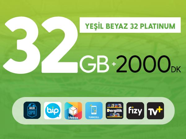 Yeşil Beyaz 32 GB Platinum
