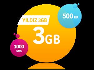 Yıldız 3 GB Paketi