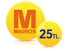 Migros Sanal Market'te 25 TL Anında İndirim