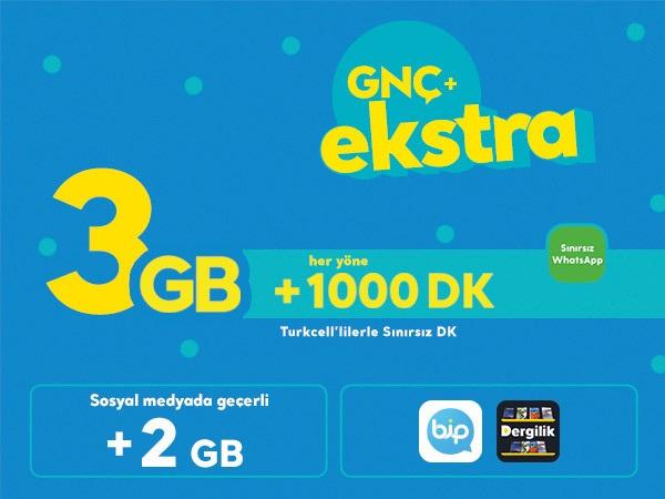 GNÇ+ Ekstra 3 GB