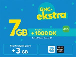 Satın Al GNÇ+ Ekstra 7 GB
