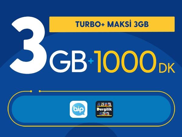 Turbo+ Maksi 3GB