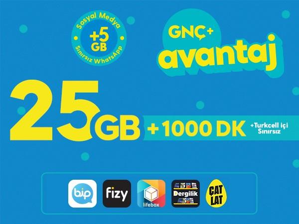 GNÇ+ Avantaj 25GB