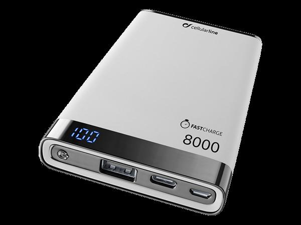 Cellularline Freepower Manta S Taşınabilir Şarj Cihazı 8000 mAh