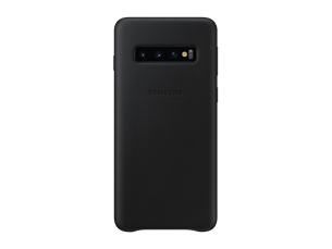 Samsung Galaxy S10+ Siyah Deri Kılıf