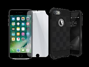 Buff iPhone 7 Black Armor Koruma İkili Set