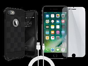 Buff iPhone 7 Plus/8 Plus Black Armor Koruma Üçlü Set 1