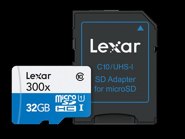 Lexar 300X Micro SD Adaptörlü Hafıza Kartı 32 GB