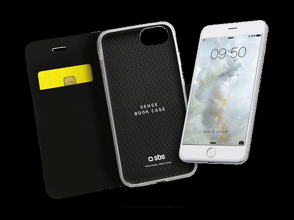 SBS iPhone 7 Manyetik Klips Kapaklı Kılıf