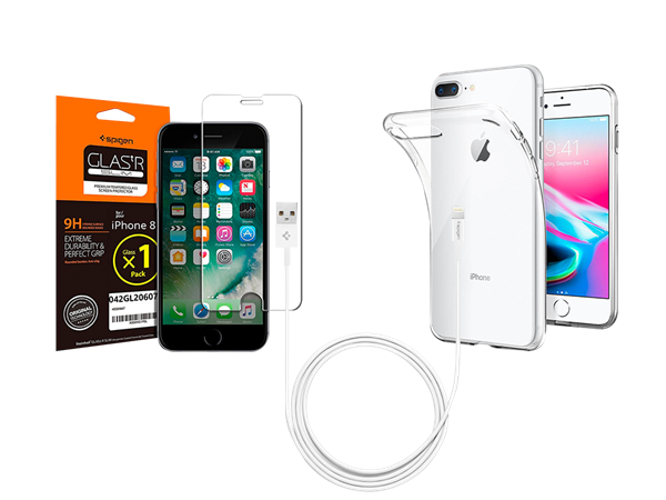 Spigen iPhone 8 Plus Aksesuar Seti